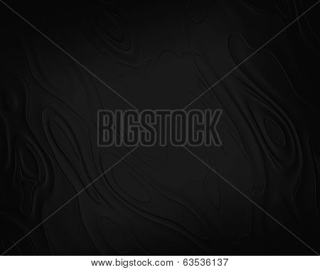 Black Background Abstract Cloth Or Liquid Waves Illustration