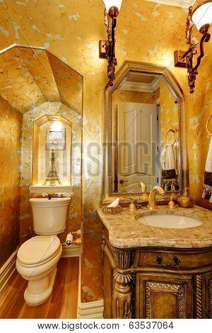 Antique Style Gold Bathroom