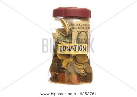 Donation In A Jar