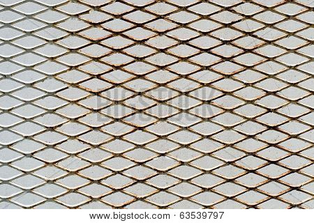 rust metal mesh on background