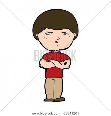 cartoon grumpy man