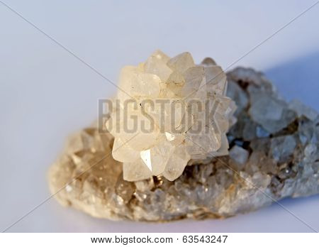 Quartz Crystal Rose In Setting Sun