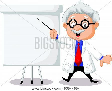 Professor cartoon teaching