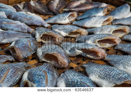 The Dried Nile Tilapia Fish As Thai Style Preserve Food