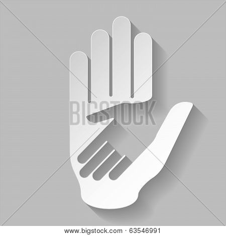 Paper helping hand
