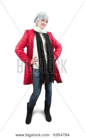 Girl Dressed Up In Winter Clothes