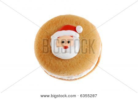 Top View Santa Face Cookie