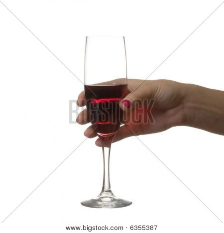 Hand With A Wine Glass.