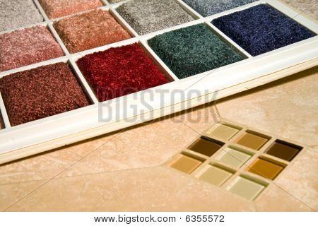 Teppich Farben und Fliesen