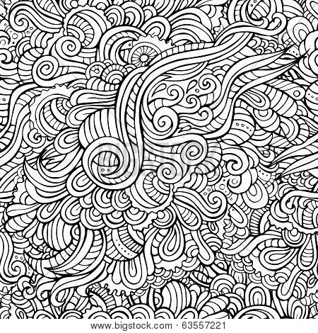 Abstract decorative seamless pattern