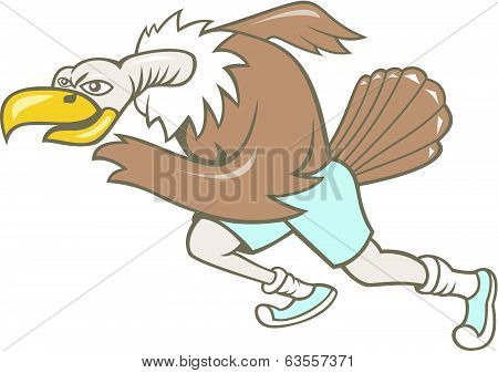 Vulture Buzzard Runner Running Cartoon