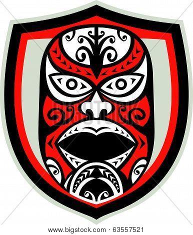 Maori Mask Shield Retro