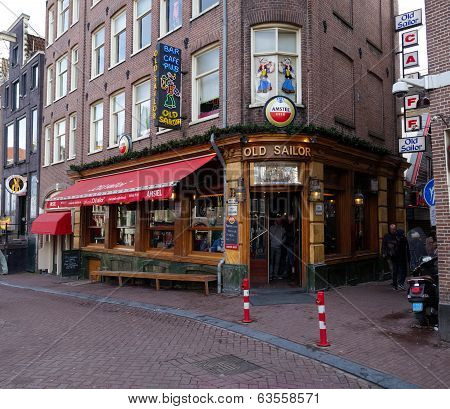 Old Sailor Pub In Amsterdam