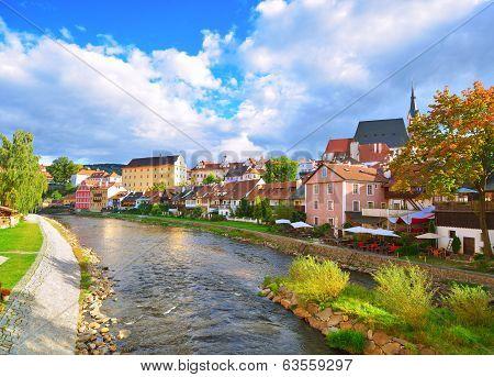 Cesky Crumlaw On The Vltava River