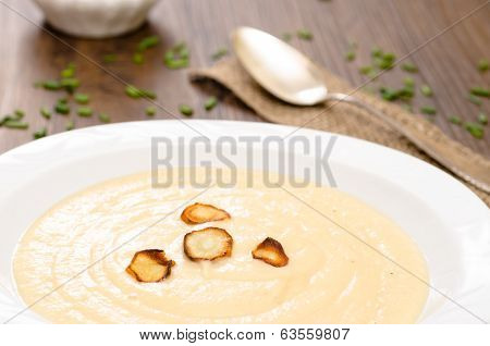 Parsnips Soup With Roasted Parsnips