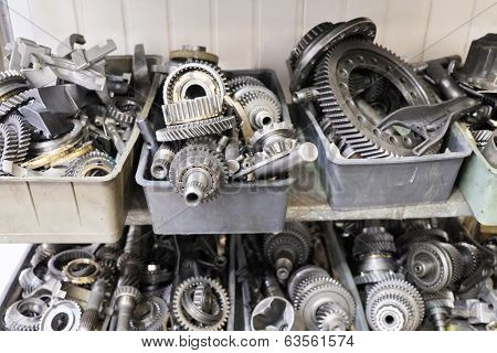 the image of a  transmission steel gear boxes