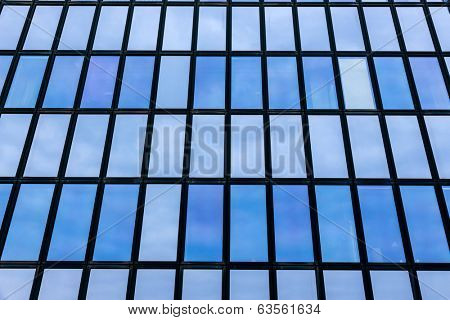the facade of an office building in an office building stadt.modernes