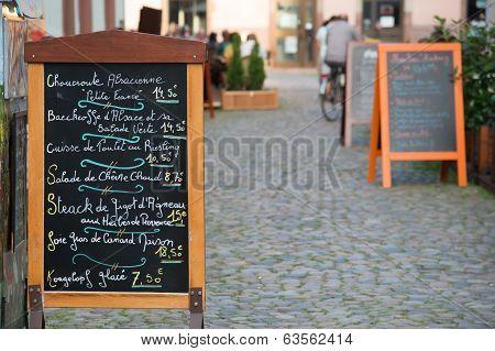 Alsatian menu