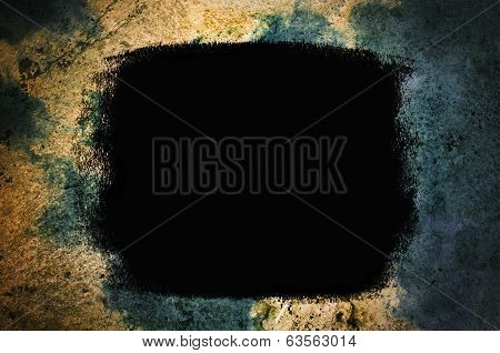 Black Painted Grunge Background Texture