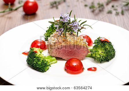 Saddle Of Lamb With Bread Crust