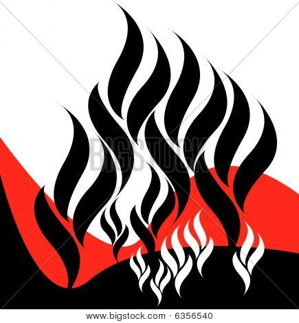 Black Flame Background