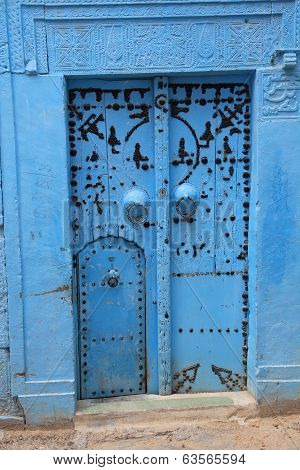 Ancient Blue Door