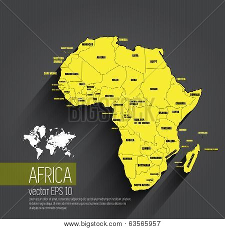 Africa map, vector