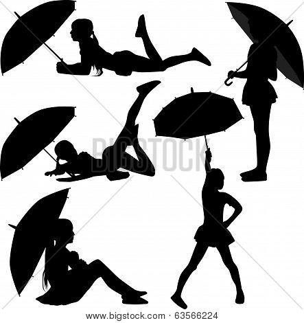Girl Dance With Umbrella