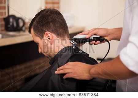 Cutting Hair At A Salon