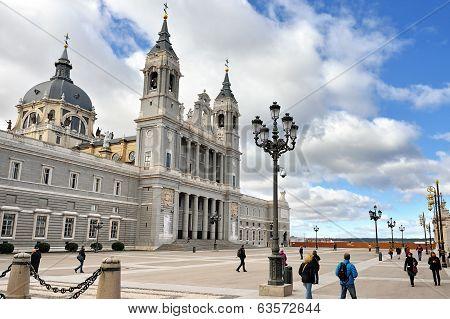 Cathedral La Almudena In Madrid