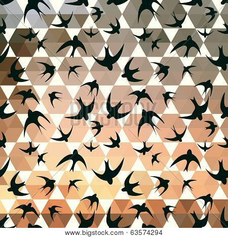Swallow And Hexagons