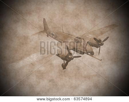 World war II german aircraft - 3D render