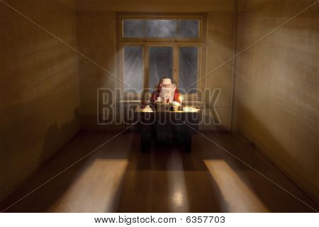 Santa In A Big Room