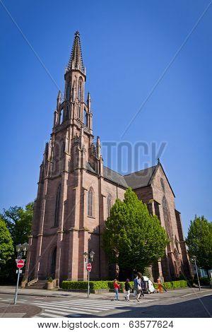 Evangelische Stadtkirche In Offenburg City, Germany