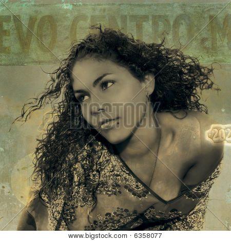Grunge Beauty Portrait