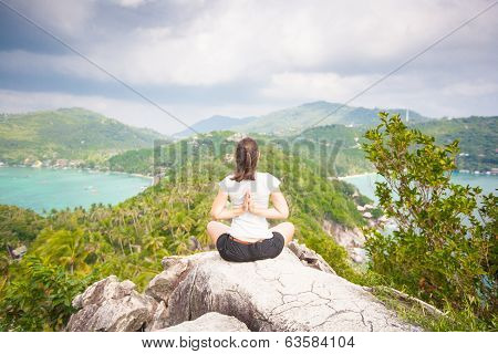 Yoga Meditation In Yoga Pose By Woman