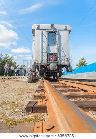 Tyumen Children's railroad. Russia
