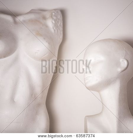 White Female Mannequin Naked