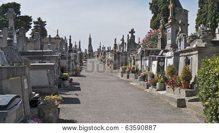 The Graveyard at CARCASSONNE CASTLE FRANCE