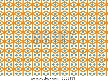 Rhomboid And Circle Pattern On Pastel Color