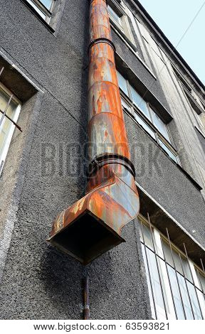 Old Drainpipe Of An Unusual Form