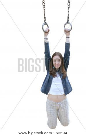 Casual Girl Hanging