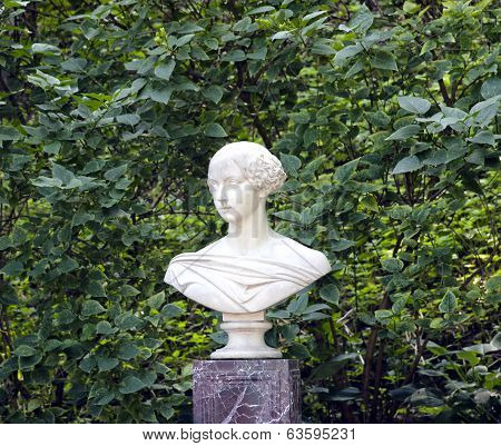 Marble Bust Of The Grand Duchess Alexandra In St. Petersburg, Russia
