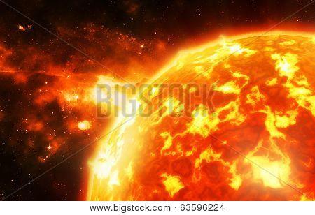 Sun flame burst