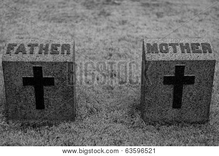 Mother And Father Headstone
