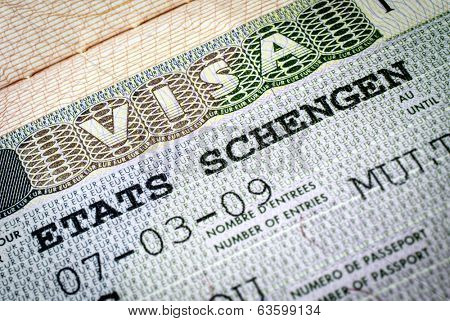Schengen visa. Focus on
