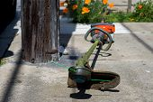 stock photo of trimmers  - lawn Trimmer use for trim your backyard - JPG