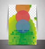 Green design business corporate CMYK A4 print template