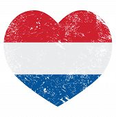 pic of holland flag  - Dutch vintage heart shaped flag  - JPG