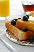 A breakfast setting of delicious french toast